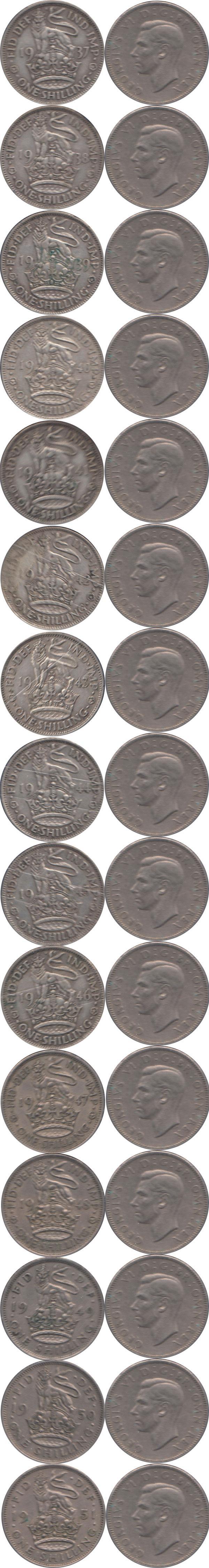 Каталог монет - Великобритания Королевский шиллинг Георга