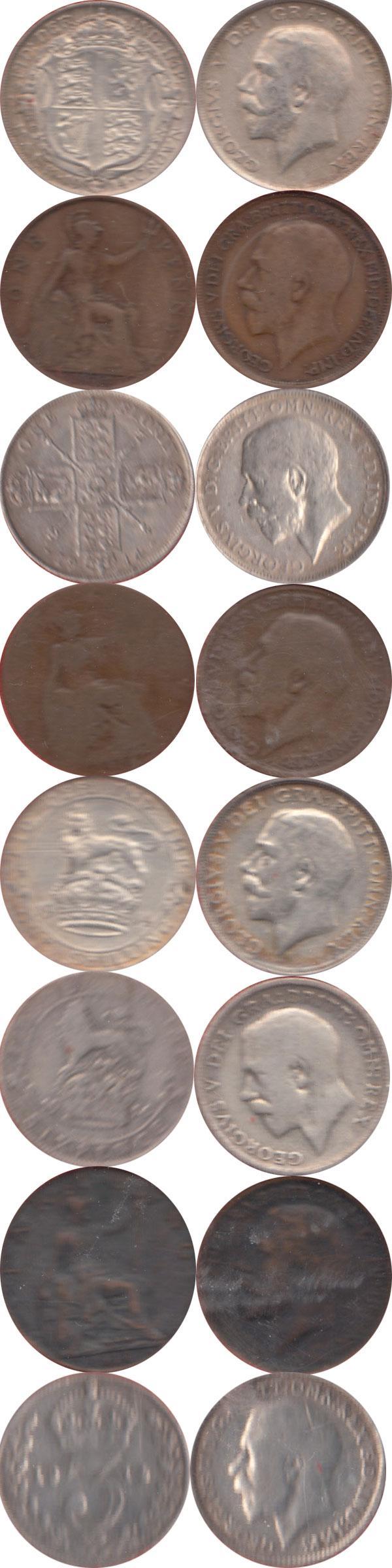 Каталог монет - Великобритания Выпуск 1914 года