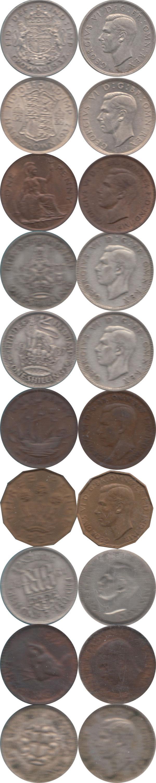 Каталог монет - Великобритания Выпуск 1937 года