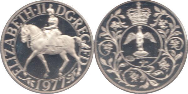 Каталог монет - Великобритания Серебряный юбилей правления