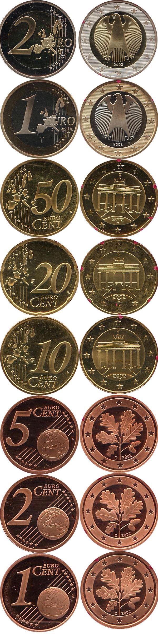Каталог монет - Германия Выпуск 2002 года, Чеканка Мюнхена