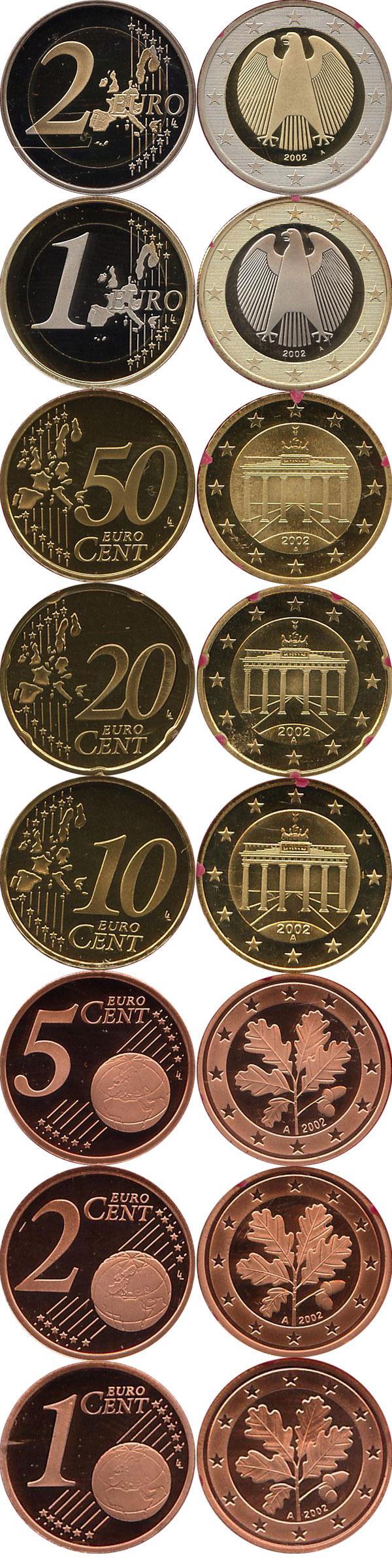 Каталог монет - Германия Выпуск 2002 года, Чеканка Берлина