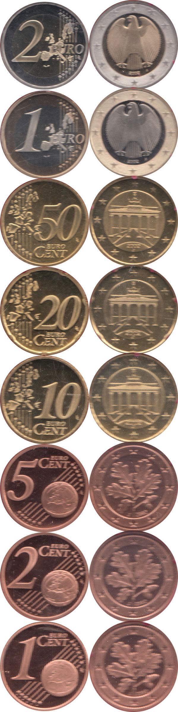 Каталог монет - Германия Выпуск 2002 года, Чеканка Гамбурга
