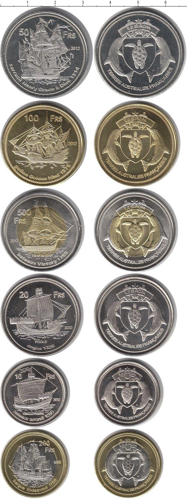 Каталог монет - Антарктика - Французские территории Франция 2012