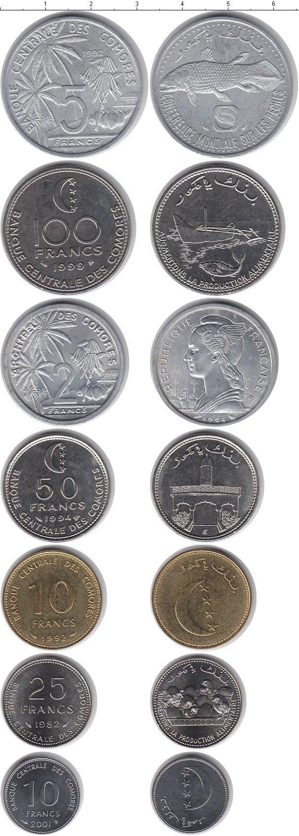 Каталог монет - Коморские острова Коморские острова 1982-2001
