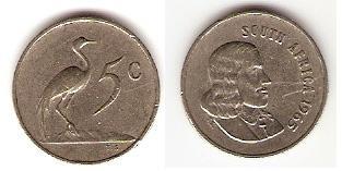 Каталог монет - ЮАР 5 центов
