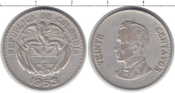 Каталог монет - Колумбия 20 сентаво