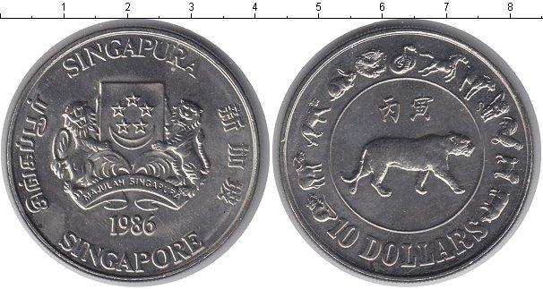 Каталог монет - Сингапур 10 долларов