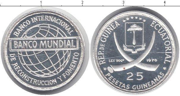 Каталог монет - Экваториальная Гвинея 25 песет