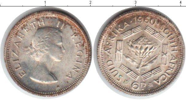Каталог монет - Южная Африка 6 пенсов