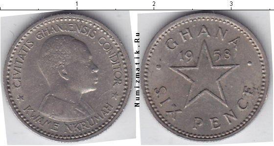 Каталог монет - Гана 6 пенсов