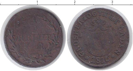 Каталог монет - Баден 1/2 крейцера