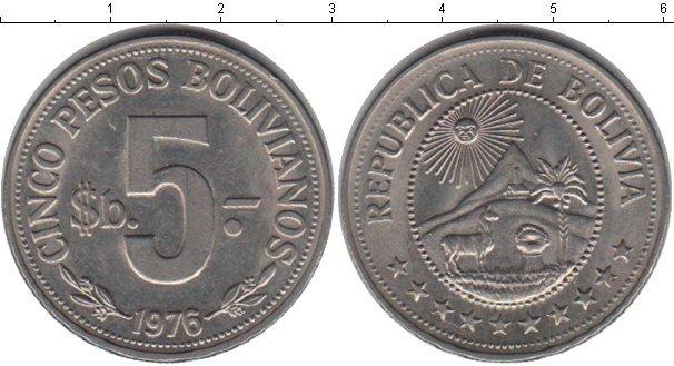 Каталог монет - Боливия 5 песо