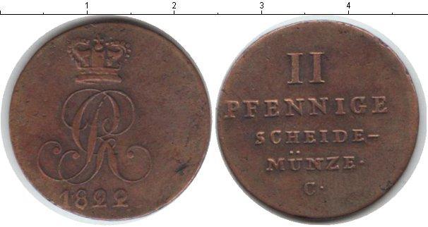 Каталог монет - Брауншвайг-Люнебург-Каленберг-Ганновер 2 пфеннига