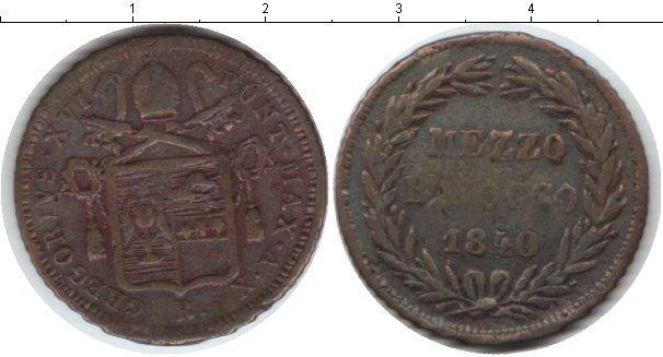 Каталог монет - Ватикан 1/2 байоччи