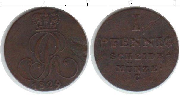 Каталог монет - Ганновер 1 пфенниг