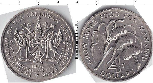 Каталог монет - Карибы 4 доллара