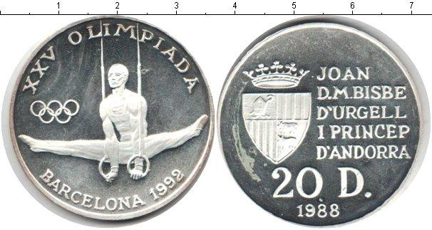 Каталог монет - Андорра 20 динерс