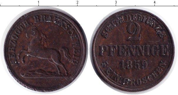 Каталог монет - Брауншвайг-Вольфенбюттель 2 пфеннига