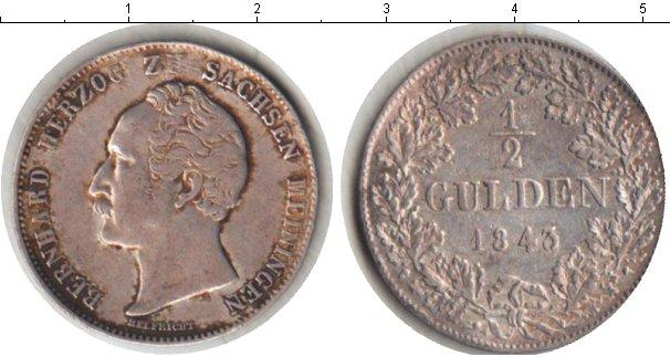 Каталог монет - Саксен-Майнинген 1/2 гульдена
