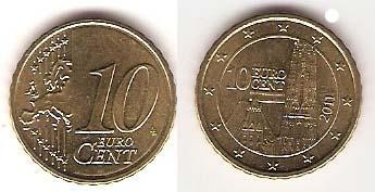 Каталог монет - Австрия 10 евроцентов