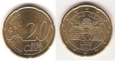 Каталог монет - Австрия 20 евроцентов