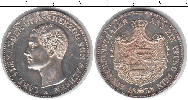 Каталог монет - Саксония 1 талер