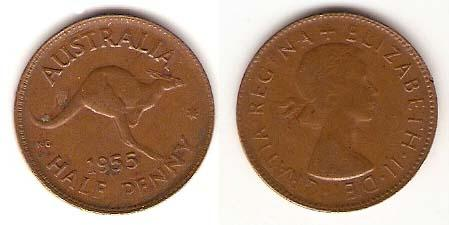 Каталог монет - Австралия 1/2 пенни