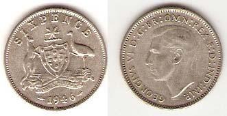 Каталог монет - Австралия 6 пенсов