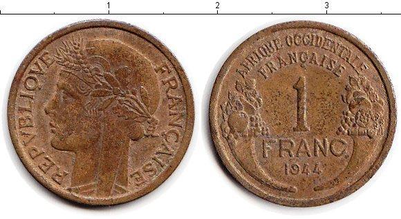 Каталог монет - Французская Западная Африка 1 франк