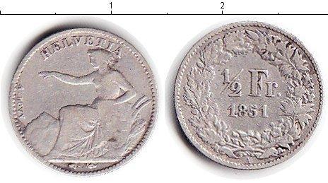 Каталог монет - Швейцария 1/2 франка