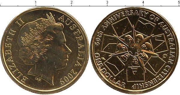 Каталог монет - Австралия 60- летие австралийского гражданства