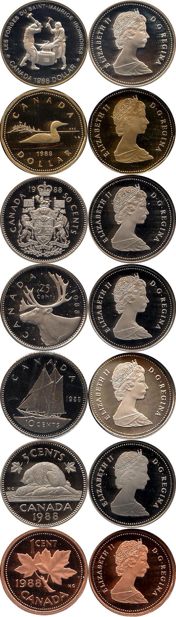 Каталог монет - Канада Памятный набор 1988 года