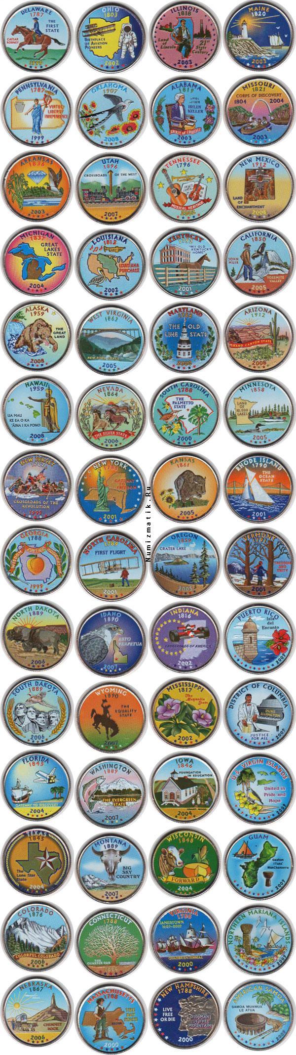 Каталог монет - США США 1999-2009гг