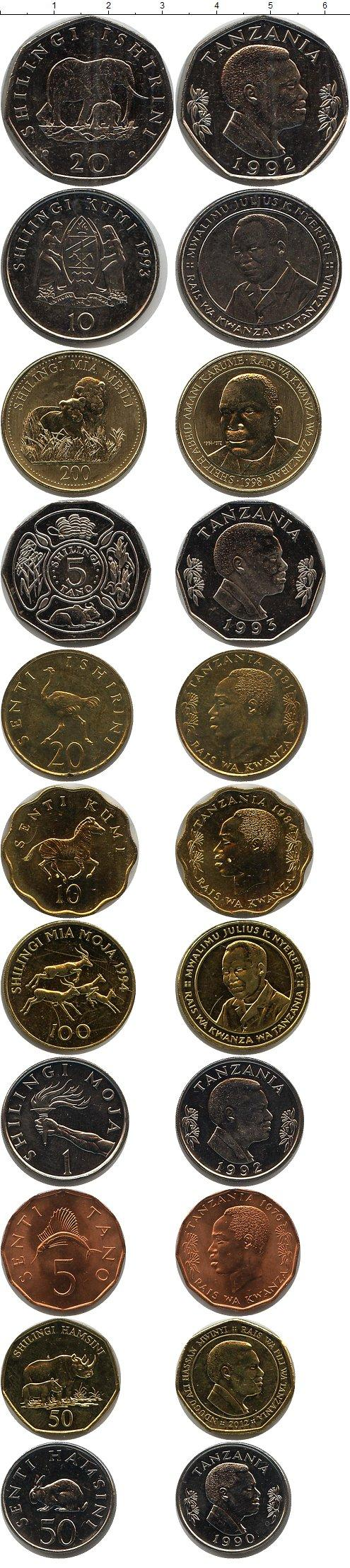 Каталог монет - Танзания Танзания 1976-2012