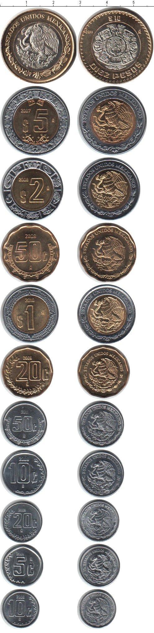 Каталог монет - Мексика Мексика 2007-2011
