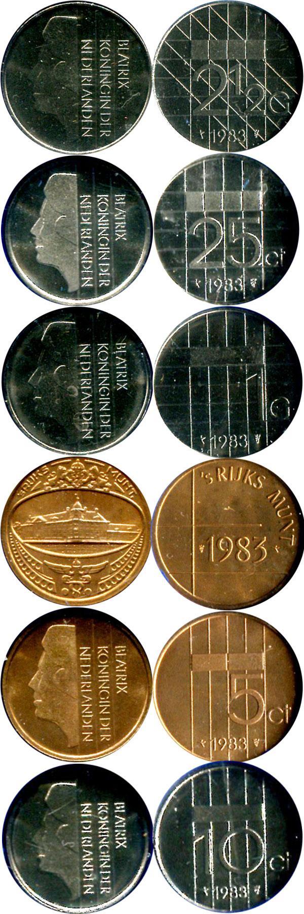 Каталог монет - Нидерланды Набор монет 1983 года