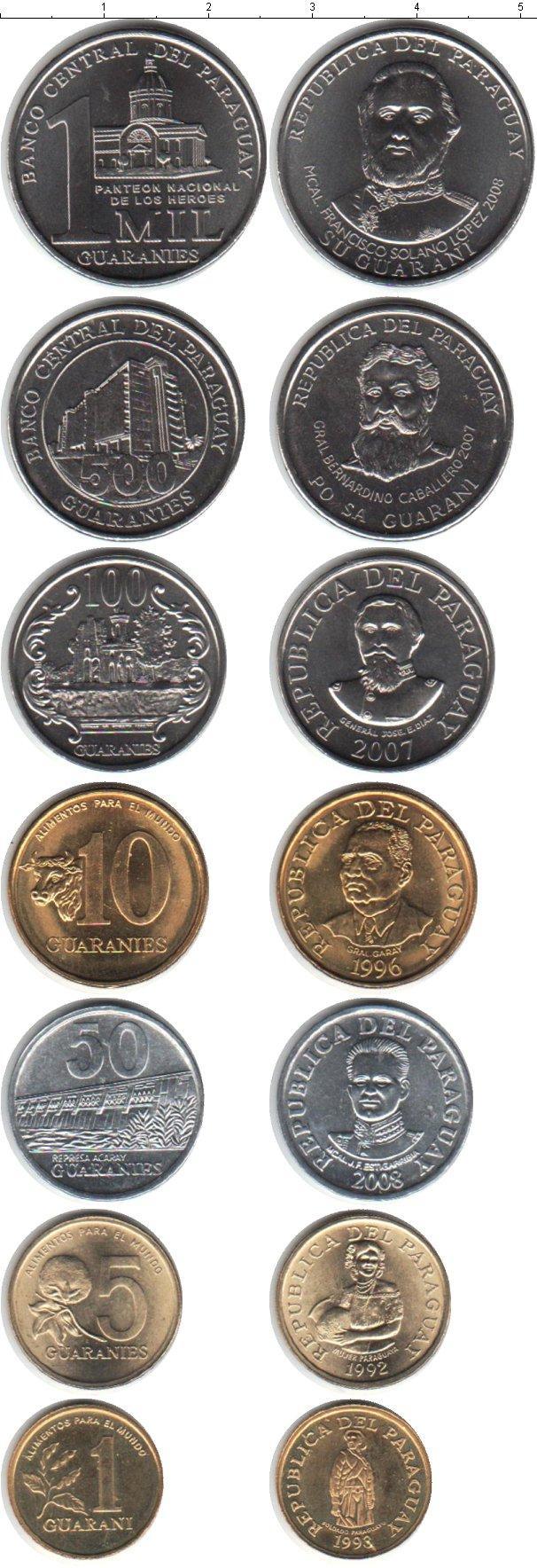 Каталог монет - Парагвай Парагвай 1992-2008