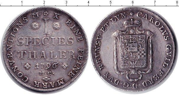 Каталог монет - Брауншвайг-Люнебург 1 талер