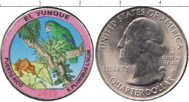 В каталоге монет сша 1/4 доллара медно-никель 2012 цветные, .