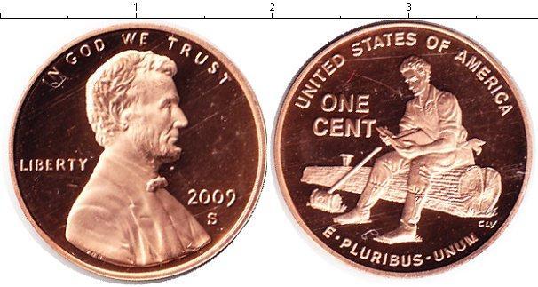 Каталог монет - США 1 цент