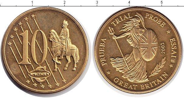 Каталог монет - Великобритания 10 евроцентов