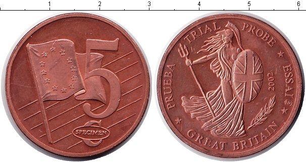Каталог монет - Великобритания 5 евроцентов