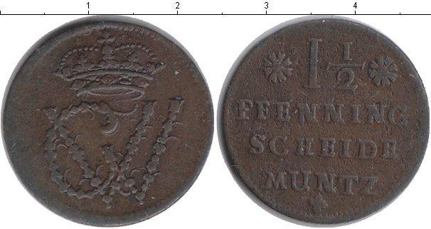 Каталог монет - Германия 1 1/2 пфеннига