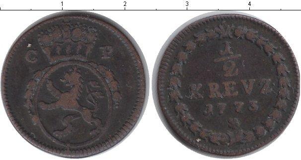 Каталог монет - Гессен-Дармштадт 1/2 крейцера