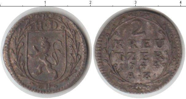 Каталог монет - Гессен-Дармштадт 2 крейцера