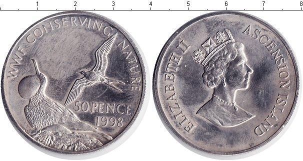 Каталог монет - Остров Вознесения 50 пенсов