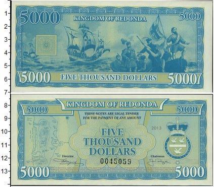Каталог монет - Редонда 5000 долларов