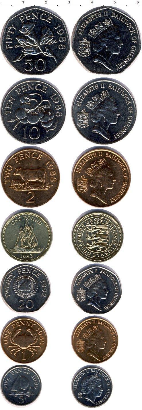 Каталог монет - Гернси Гернси 1988-1999