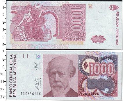 Каталог монет - Аргентина 1000 аустралес